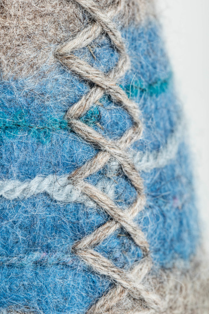 Doorstop Hand Stitching Detail