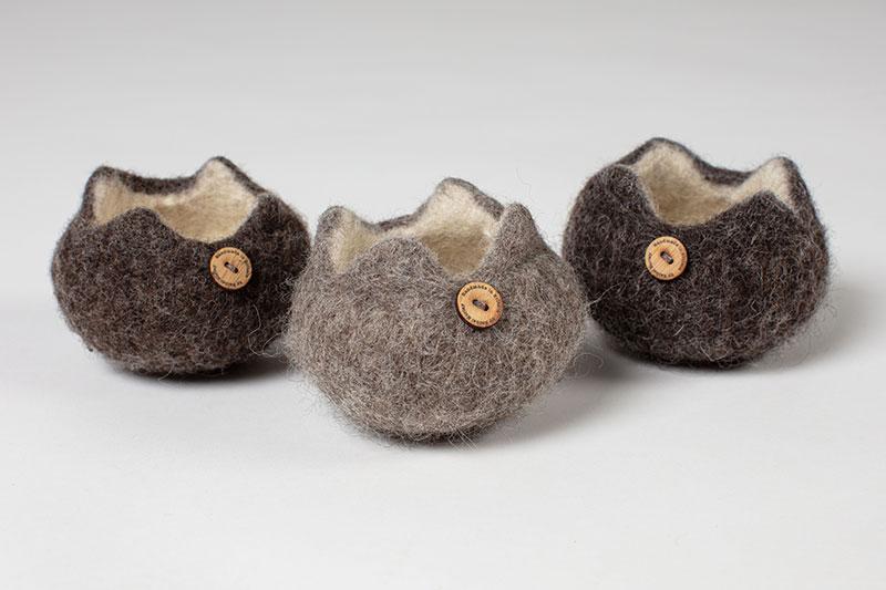 Tiny British Breed Bowls in 3 Grey Shades